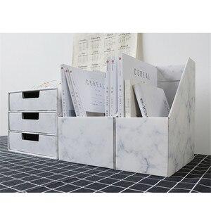 Baffect органайзер для офисного хранения картонный ящик для хранения держатель для ручки DIY держатель для хранения полки для бумажных книг фор...