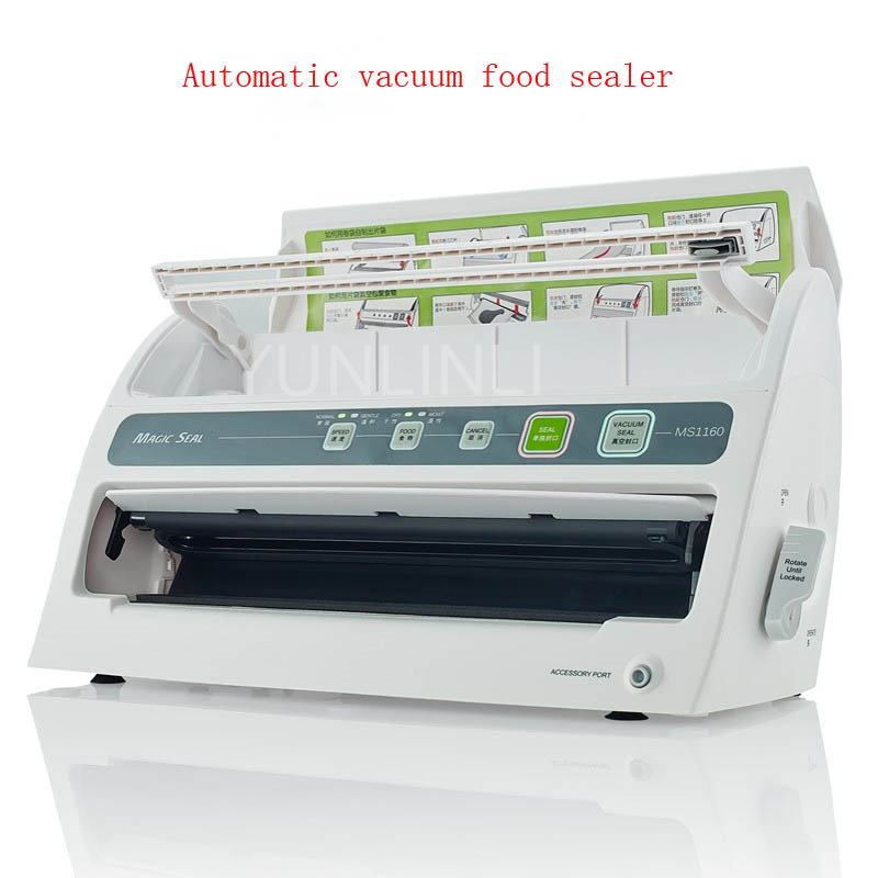цена Automatic Dry+Wet Vacuum Food Sealer Household Food Vacuum Sealing Machine Multi-function Film Packaging Machine MS1160