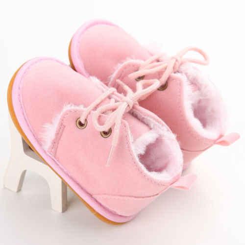 PUDCOCO Mùa Đông Ấm Áp Bé Cậu Bé Cô Gái Khởi Động Trẻ Em Trẻ Sơ Sinh Booties Toddler Đi Bộ Giày 0-18 M