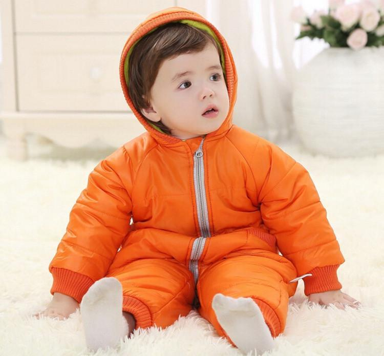 9-24Months Baby Winter Clothes Girl Boy Romper Warm Russian Baby Winter Jumpsuit Skiing Outerwear Clothing Colorful Snowsuit (14)