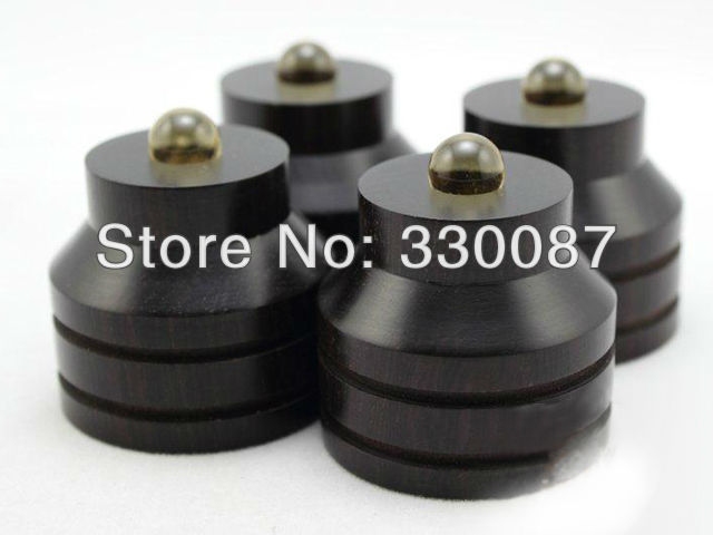 Free shipping S2B middle Ebony isolation font b Speaker b font feet 33mm 33mm