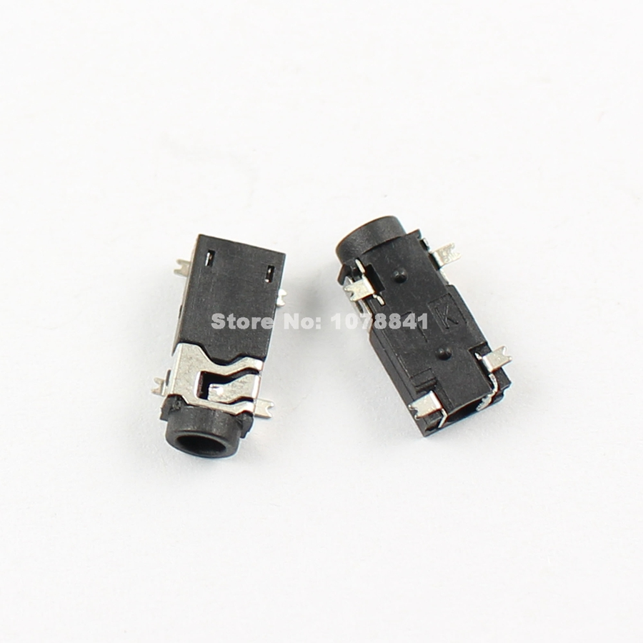 hight resolution of 100 pcs per lot 2 5mm female audio connector smt 4 pin stereo phone jack pj234