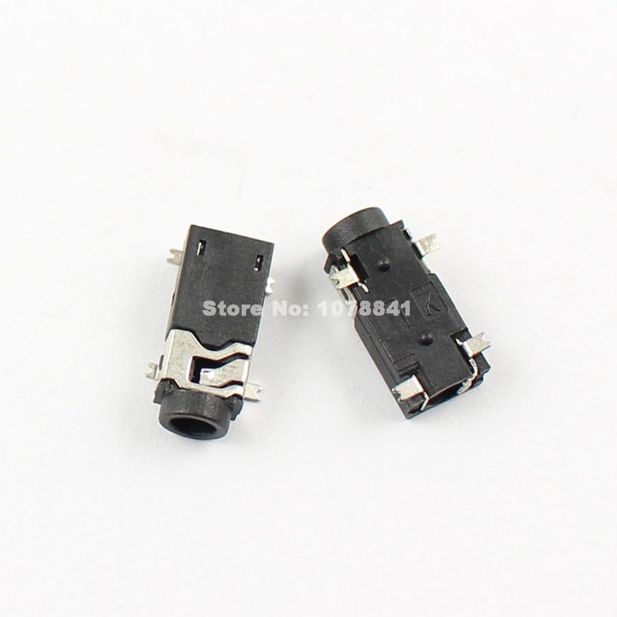 medium resolution of 100 pcs per lot 2 5mm female audio connector smt 4 pin stereo phone jack pj234
