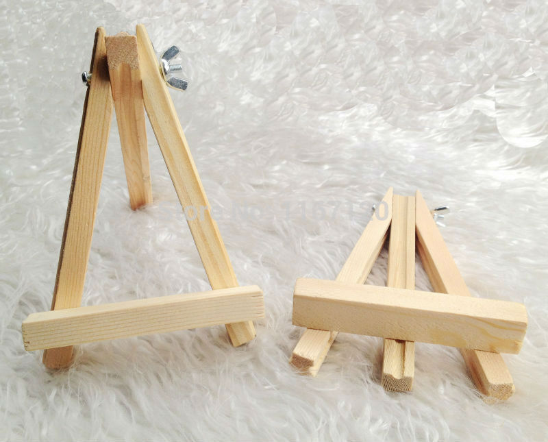Us 9 72 5pcs Mini Wooden Easel Stand Wedding Table Number Place Name Card Stand 15 10cm In Party Diy Decorations From Home Garden On Aliexpress