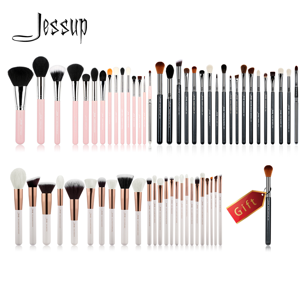 Jessup Buy 3 get 1 gift Makeup Brushes set Powder Foundation Eyeshadow Eyeliner Lip Pro Make up Brush Tool High Quality Blushes new pro 22pcs cosmetic makeup brushes set bulsh powder foundation eyeshadow eyeliner lip make up brush high quality maquiagem