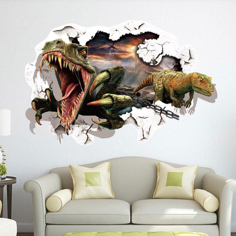 60 cm * 90 cm extraíble 3D dinosaurio parche patrón a través de la ...