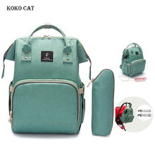 купить Large Capacity Waterproof Mummy Maternity Backpack Multifunctional Baby Diaper Bag with USB Interface Baby Care Nappy bags дешево