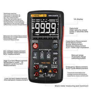 Image 5 - Q1 9999 Zählt NCV True RMS Digital Multimeter Berufs Auto Ranging Kondensator Transistor Tester Mini LCR Multimeter AC/DC
