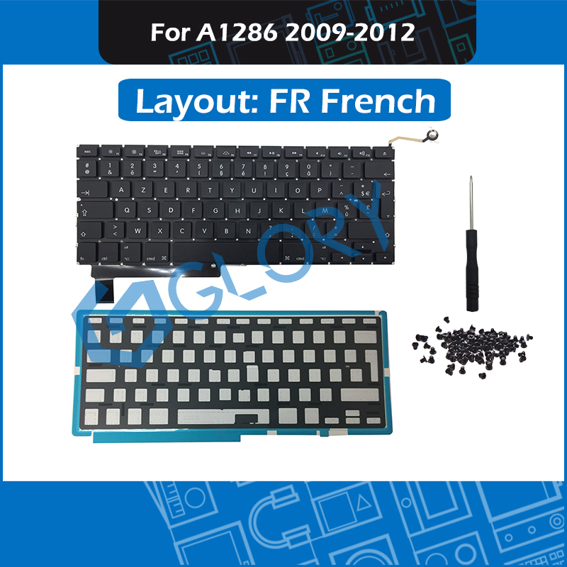 New FR French Keyboard For font b Macbook b font Pro 15 A1286 France Keyboard with