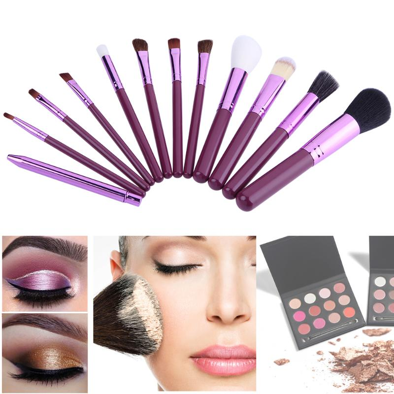 12Pcs Makeup Brushes Tool Set Cosmetic Power Eyeshadow Foundation Blush Beauty Make Up Brush with Holder Case Maquiagem focallure 10pcs makeup brushes set foundation blending powder eyeshadow contour blush brush beauty cosmetic make up tool kit