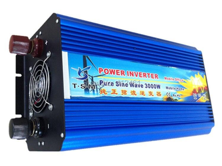 zuivere sinus converter 3000w inverter pure sine wave max 6000w power DC 12V 24V 48V to AC100V-240V for solar wind home use 5000w pure sinus omvormer pure sine wave inverter 5000w 24v to 120v pv solar inverter power inverter car inverter converter