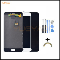YUEYAO LCD Display Digitizer Touch Screen Assembly For Meizu MX6 Smart Cellphone 5 5 Black White