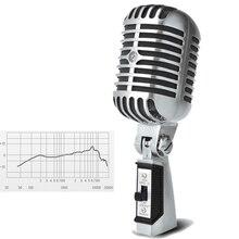 55sh II Elvis микрофон классический ретро Микрофон 55 sh II металлический поворотный динамический проводной микрофон для караоке записи