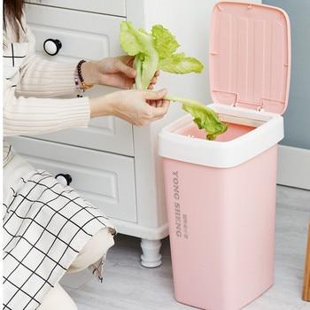 9/12L Plastic Trash Can Automatic Change Bag Rubbish Storage Bucket Creative Pumping Bag Kitchen Bathroom Toilet Paper Basket
