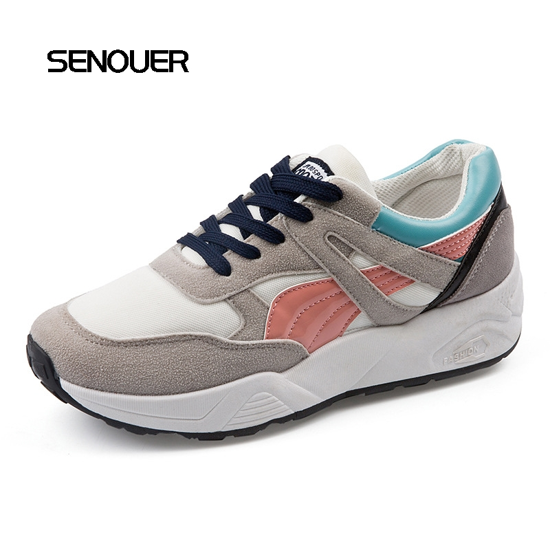 Fashion Women Casual Shoes Spring Autumn Mesh Winter Plush Women Flats Patchwork Breathable Colorful Lace Young Ladies Shoes women shoes 2018 summer breathable mesh shoes fashion flats hot sales women footwear high quality lace up mesh casual shoes