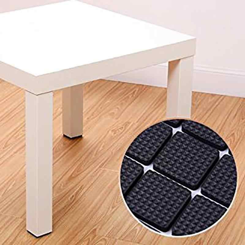 Multifuncional Preto Autoadesivo Mobiliário Mesa Perna Da Cadeira Sofá Pés Protetor de Piso Não-deslizamento Capacho Almofada Pegajosa
