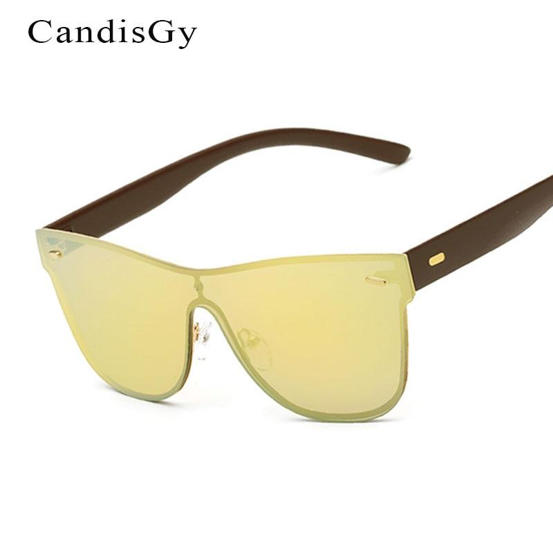 dc32a0cc7cf432 Mode Carré Miroir lunettes de Soleil Femmes Sans Monture Punk 2017 Nouveau  Concepteur de Marque Lady Femme lunettes de Soleil UV400 Hommes