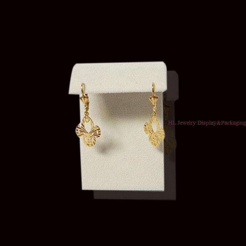 2015 NEW High-grade Z Large Earring Display Stud Beige Velvet Earrings Suede Earrings Jewelry Rack