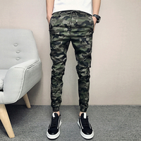 Summer New Camouflage Print Pants Men 2018 Slim Fit Army Green Casual Pant Man Hip Hop Streetwear Joggers Mens Trousers 28 33