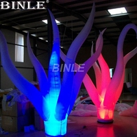 2018 hot sale custom LED lighting air inflatable plants seaweed inflatable tentacles for party decoration