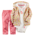 Baby Girls boy Sets For Newborns Children Set Babies 3pcs Baby Girl Clothing 100% Cotton Hooded Long Sleeve Baby Sets