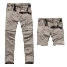 2016 Nuevos hombres de Secado rápido Extraíble Pantalones de Senderismo Al Aire Libre Deportes de Verano Transpirable Thousers Camping Senderismo Pesca Shorts VA035
