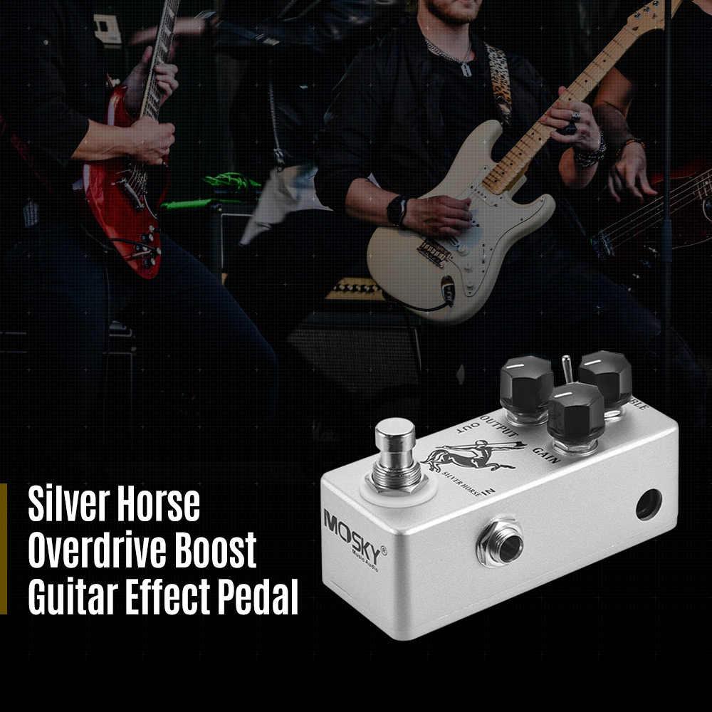 MOSKY guitarra Pedal efecto caballo de oro guitarra Overdrive Pedal efecto la carcasa de Metal Bypass verdadero partes de guitarra y accesorios