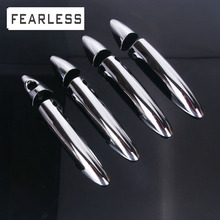 цены Chrome Side Door Handle Cover Trim For Hyundai Solaris Verna i25 Accent Grand Avega FOR Dodge Attitude Stickers Car styling