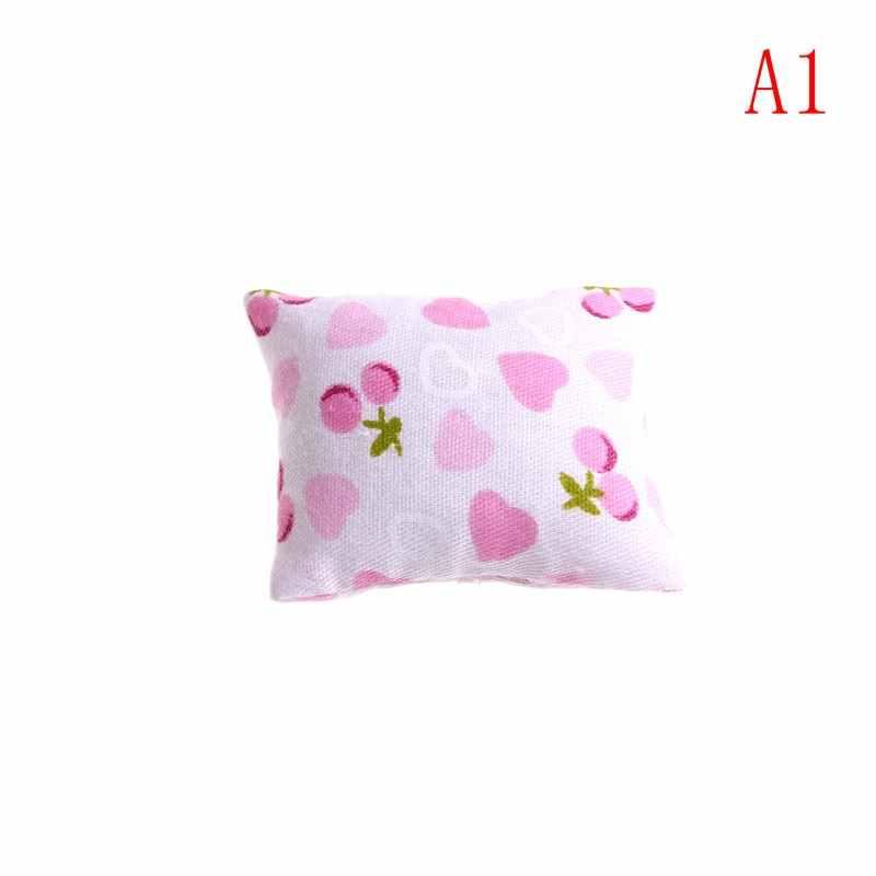 Moda Almofadas Travesseiro Para Sofá Sofá Cama Para 1/12 de Casa De Bonecas Móveis Em Miniatura Brinquedos Sem a Cadeira Do Sofá