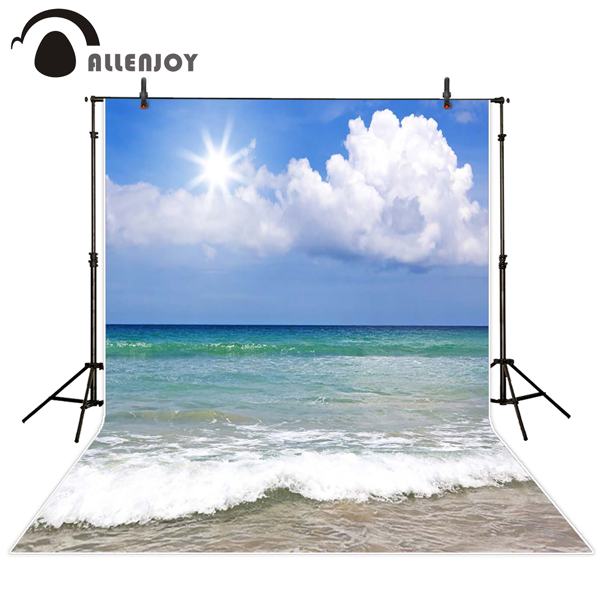 Allenjoy scenic Photo background Sun cloud real sea waves sky photography backdrops foto backgrounds for photo studio