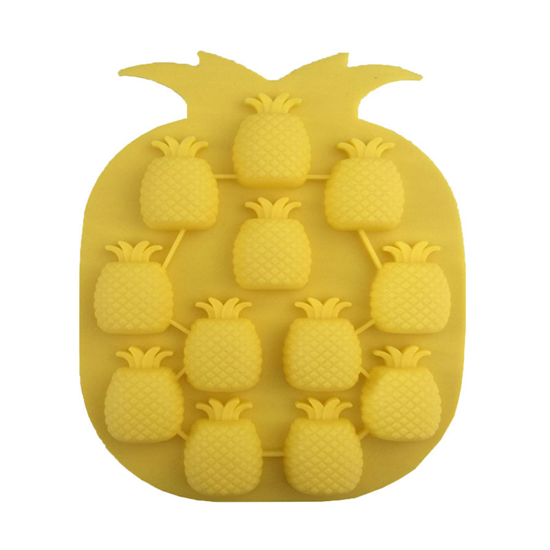 Pineapple Shape Silicone Mold,Chocolate Ice Jelly Baking Pan,Muffin Candy Bakeware Mould ,DIY Tools For Fondant Cake Decoration