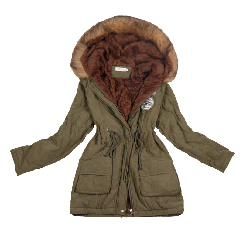 SHIBEVER New Cotton Women Winter Coat Ladies Casual Jacket Women Warm Thick Winter   Parka   Female Outwear Clothing For Girl CJT142