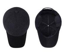 [AETRENDS] Winter Baseball Cap Men Russian Hat with Ears Warm Woolen Hats for Men Z-3860