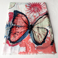 Butterfly Scarf Women Elegant Animal Fashion Shawl Cotton Soft Scarves Brand New [1011]
