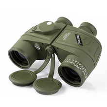 10×50 Водонепроницаемый темно-телескоп fogproof HD бинокль с дальномер компас Перекрещение источника света ночного видения Охота