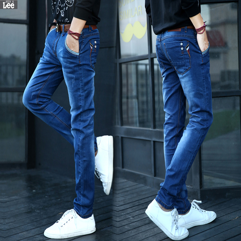 American Apparel Real Cotton Light Zipper Fly Mid Waist Jeans 2016 New Clothing Fashion Denim Jeans
