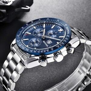 Image 3 - Benyar 2018新メンズビジネス腕時計フルスチールクォーツトップブランドの高級スポーツ防水カジュアル男性腕時計レロジオmasculino