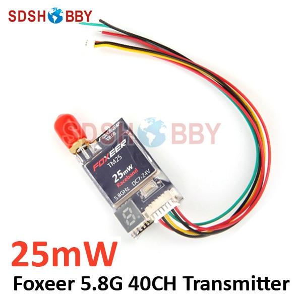 Foxeer TM25 5.8G 40CH 25mW Mini Race Band VTX FPV Transmitter for QAV250 210 Mini Quadcopter