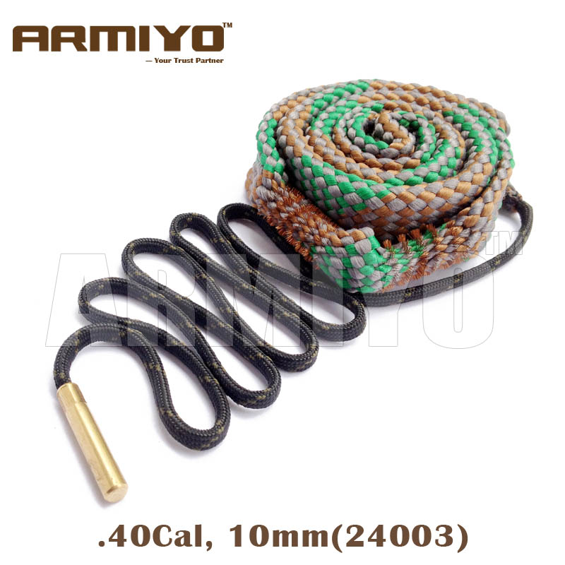 Armiyo Bore Snake .40 .41Cal 10mm Gun Barrel Cleaner Pistol Bore Cleaning Sling Rope 24003 Shooting Clean Kit Accessories