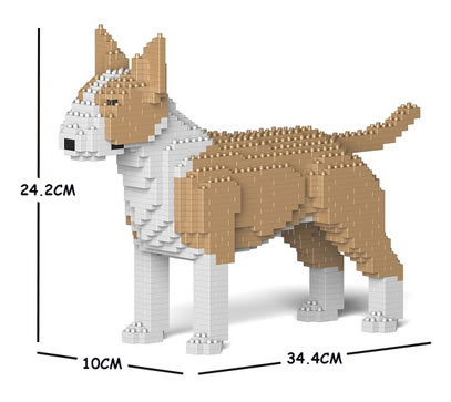 Jekca Stacking Blocks English Bull Terrier Assembled Toy Diy Model