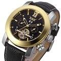 Мужские механические часы Jaragar Automatic Tourbillon  наручные часы с кожаным ремешком  военные часы  подарок для мужчин