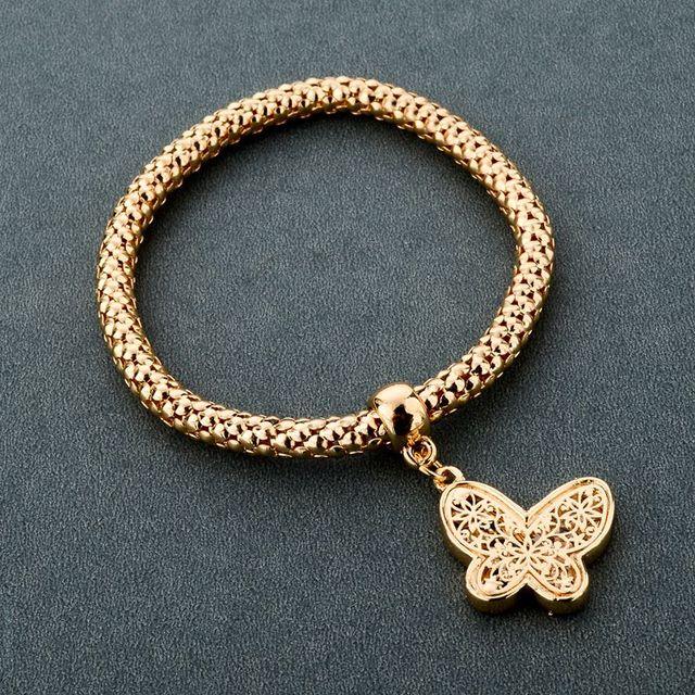Фото chicvie золотые полые бабочки дружбы браслеты и очаровательные