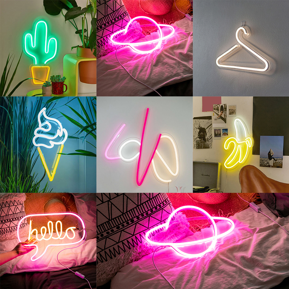 Atmosphere Led Home Party Shop Window Wall Hanging Neon Light Art Wedding USB Powered Decoration Bar Photography Prop Word SignAtmosphere Led Home Party Shop Window Wall Hanging Neon Light Art Wedding USB Powered Decoration Bar Photography Prop Word Sign