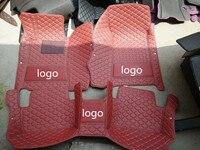 Fit Audi Car floor mats + logo for A1 A3 A4 A5 A6 A7 A8 Q3 Q5 Q7 TT S3 S5 S6 S8 S7 A8L 12color