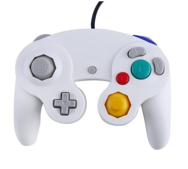 New Design Game Controller Gamepad Joystick para Nintendo GameCube Para Wii Branco Platina cor