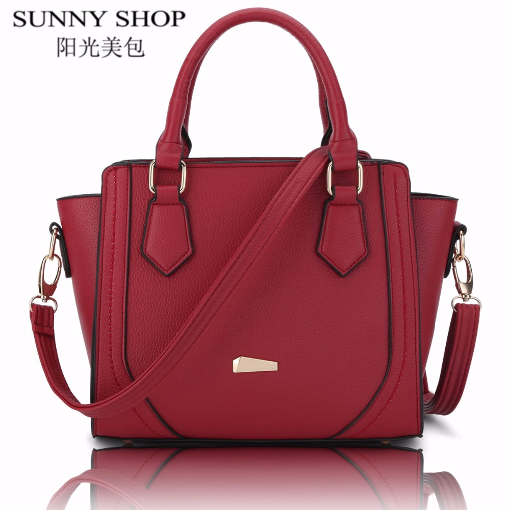 SUNNY SHOP Luxury Women Bag Designer Women Messenger Bags Handbags Women Famous Brands Shoulder Bags High Quality Leather Bag vintage women bag high quality crossbody bags luxury designer large messenger bags famous brands female shoulder bag tassen flap