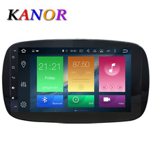 KANOR Octa Core RAM 2G ROM 32G 2 Din Android 6.0 Car Radio For Benz Smart 2016 With GPS WiFiGPS Navigation Video Head Unit