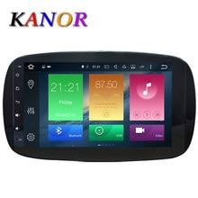 KANOR Octa Core RAM 2G ROM 32G 2 Din Android 6.0 Del Coche de Radio Para El Benz Inteligente 2016 Con GPS WiFiGPS Vídeo Navegación Unidad Principal