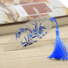 5pcs/lot Multi colors porcelain Antique Leaf Veins Bookmarks Classical Chinese Stationery Exquisite Gift