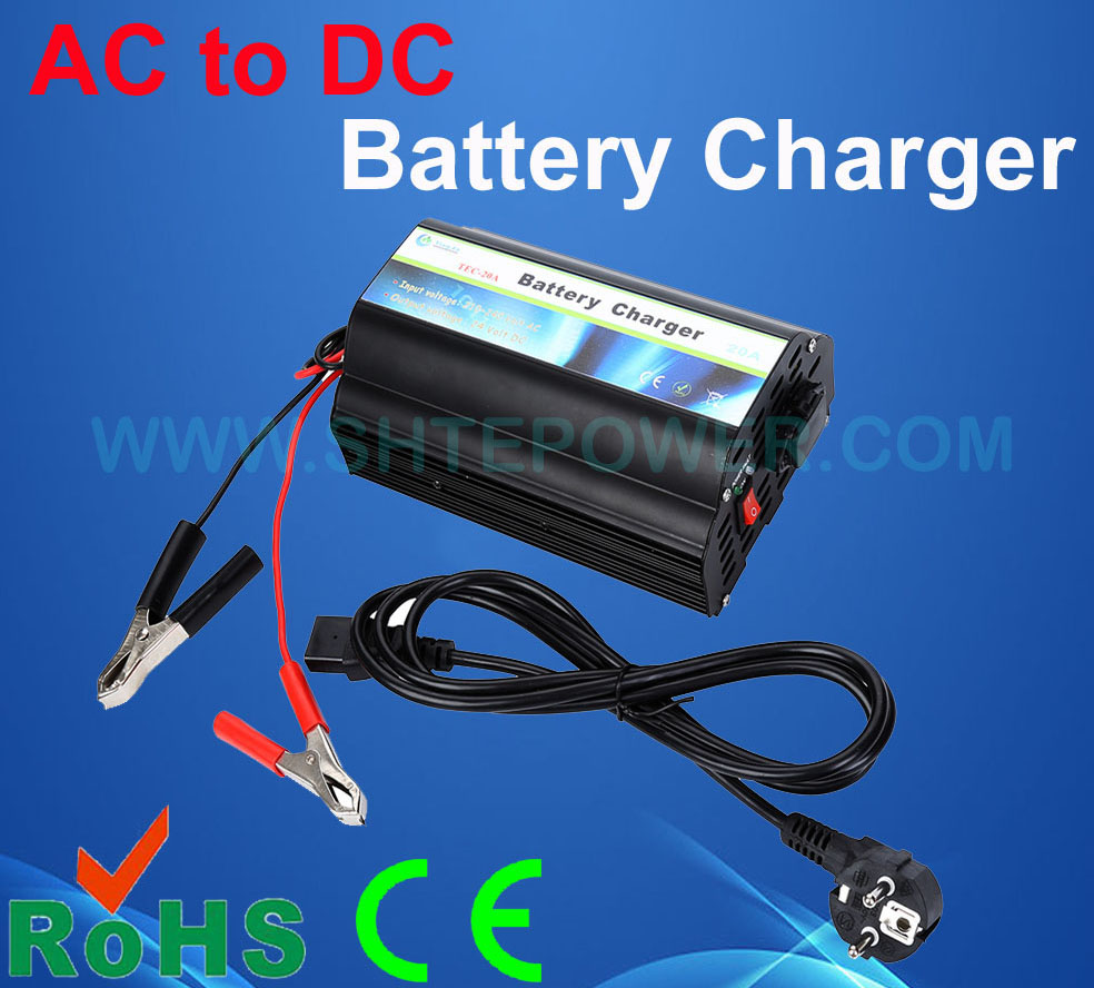 Bon chargeur de batterie de voiture, chargeur de voiture 12 V, 20A 12 V chargeur de voiture
